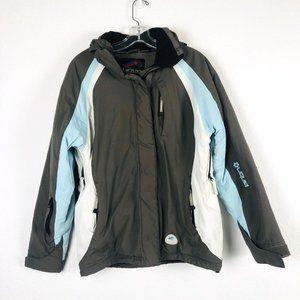 Liquid Snowboarding Jacket - Brown, Blue Small